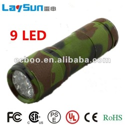 9led aluminum alloy flashlight&torch flashlight earpick with CE ROHS UL certificate ningbo manufacture