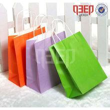 Carry Kraft Bag/Colorful White Kraft Paper Bag Big Size