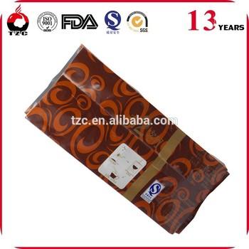 heat seal resealable side gusset bag plastic food packaging bag for coffee