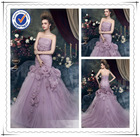 latest design backless mermaid style formal evening gown