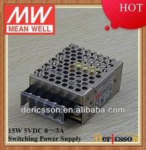 MW 15W Switching Power Supply 5V 3A UL CUL RS-15-5