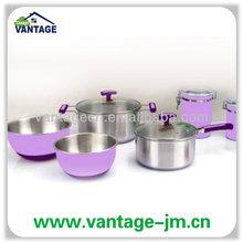 10pcs purple silicone kitchen utensil set