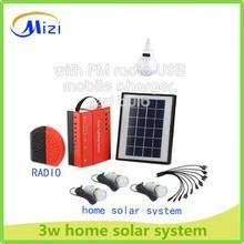 2014 caldo! Nuovo stile portatile mini sistema home solare con caricatore mobile, la casa sistema di illuminazione solare