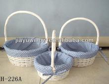 White wicker gift 12*12 storage baskets wholesale