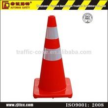700mm Flexible Fluorescent Orange Safety PVC Traffic Cone