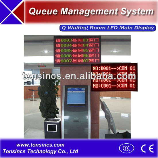 Multiple Lines Queuing System Ceiling Hanging/Wall Mount Waiting Room LED Main Display