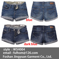 Mulheres jeans curto ultracurtos 2013 jeans moda hot deep blue( wsh004)