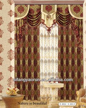 jacquard cotton curtain fabric/luxury modern bedroom curtain