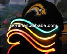 HIgh light fiber optic baseball caps