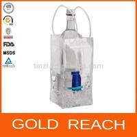 Wine Tote Bag PVC Plastic Bottle Cooler Tote Bag PVC Tote bag for Wine