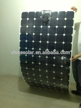 22% efficiency durable sunpower cells flexible solar panel 300W, flat waterproof bendable solar panel