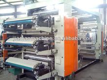 6 Color Flexographic Printer/roll plastic film Printing Machine