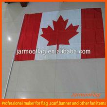 stick flag waving flag hand flag of Canada maple leaf