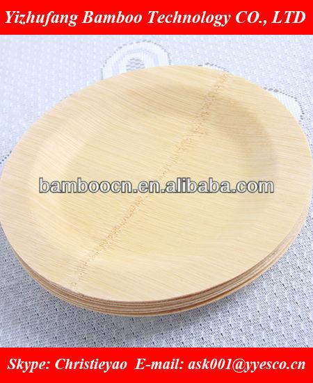 descartáveis bambu placas partido pratos