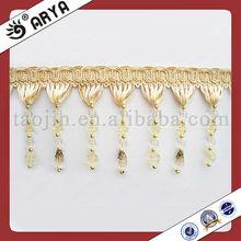 China wholesale lampshade beaded fringe, table beads fringe,curtain bead fringes