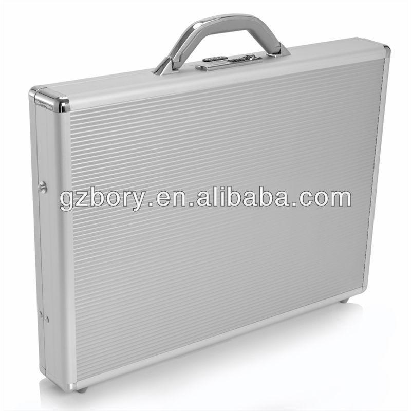 silver aluminum laptop case briefcase suitcase