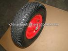 rubber wheel ,iron rim with ball bearing