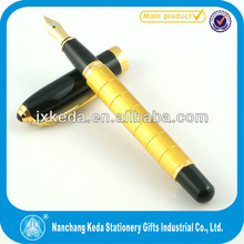 2014 cute promotional dicount golden and black royal pen (roller+ball+fountain pen)