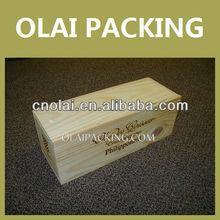 Hot Popular Luxury Solid Wooden Wine Box Packing,Wooden Packaging Wine Box,Wine Gift Box