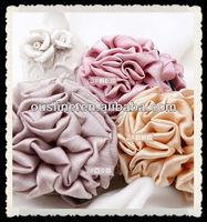 high quality soft silk flower hair claws for women headwear