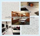 Sparkle white quartz wall cladding stone, quartz shower stone wall panel, white sparkle quartz stone countertop