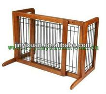 Deluxe Freestanding Pet Gate with Door / Wooden pet gate / dog fence