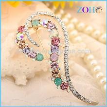 wholesale 2014 Elegant jewelry crystal Rhinestone brooches & hijab pins in bulk