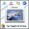 Dongchen Lihua 3d deniz hayvan resimleri/3D çerçeveli resim