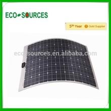 100w mono semi-flexible solar panel 100watt flexible solar panel for boat RV