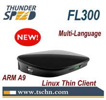 China Manufacturer FL300 Thin Client Dual Core 1.0 Ghz A9 CPU 512MB RAM Linux 3.0 Embedded RDP 7.1 Protocol