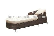 New style garden rattan/wiker sun loungers/sun bed