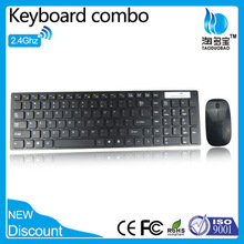 CE RoHS slim chocolate keys 2.4g wireless keyboard and mouse