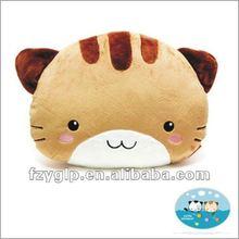 plush cute cat shape pillow cushion, animal pillow for promotion