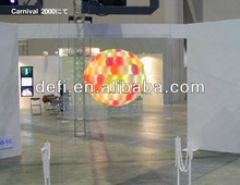 2012 self adhesive clear rear projection screen film,high resolution glass projection film,advertisement screen Material