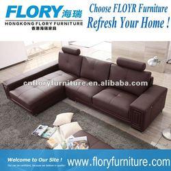 2012 Brown L shape leather sofa model F215#