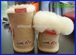 Fantastic sheepskin babies boot