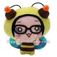 Soft plush pet animal pillow bumble bee cushion toy