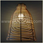 Rattan hanging pendant lamp shade NEW hand made simple light natural earth color