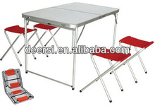 Outdoor Folding Aluminum Picnic Table Set