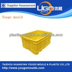 2 point Yudo hot runner collapsible injection crate mould supplier