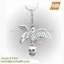 2012 hot sale Plastic Halloween skull Key Ring