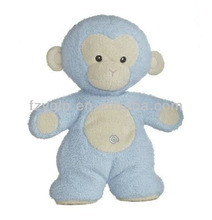 Plush fleecy friends blue monkey,cute stuffed money for promotion gift