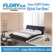 Furniture bedroom King size leather bed BL9033