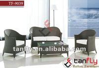 luxury outdoor PE rattan wicker sofa set living room furniture