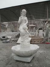 garden marble fountain of The little mermaid
