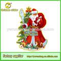 Imagem 3d grosso para decoração do natal, glitter gigante de papai noel de natal deooration
