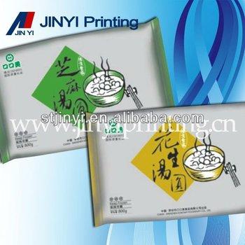 LDPE plastic film dessert packaging bag with printing