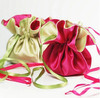 Customized Logo Wholesale Eco-Friendly Lace Satin candy bag / gift pouch with drawstring / cloth bag