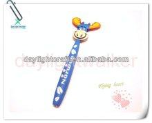 Lovely cartoon Soft Pvc Ballpoint Pen with Magnet