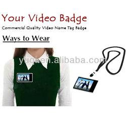 digital video name tag
